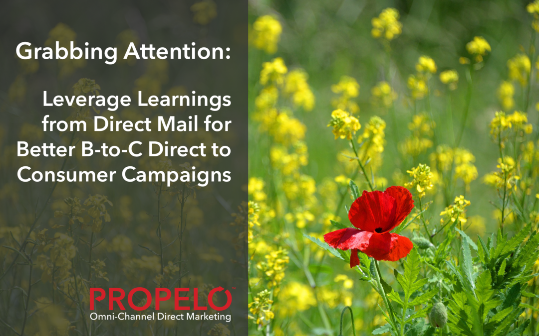 Grabbing Attention: Leverage Learnings from Direct Mail for Better B-to-C Direct to Consumer Campaigns