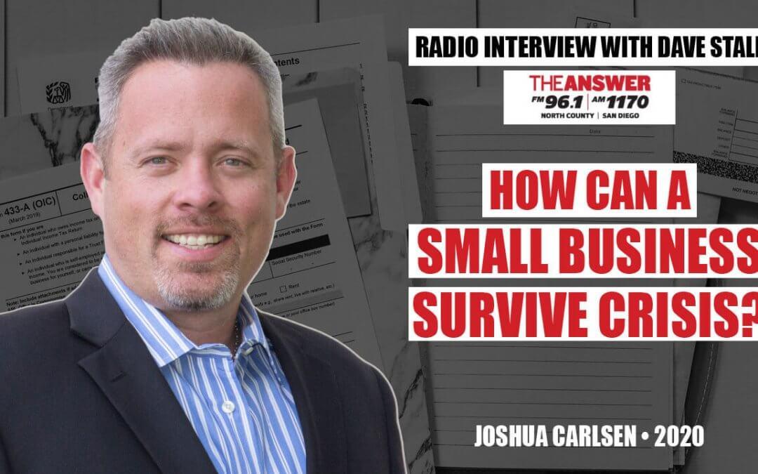 Helping Small Business Through Crisis Interview w/ Joshua Carlsen