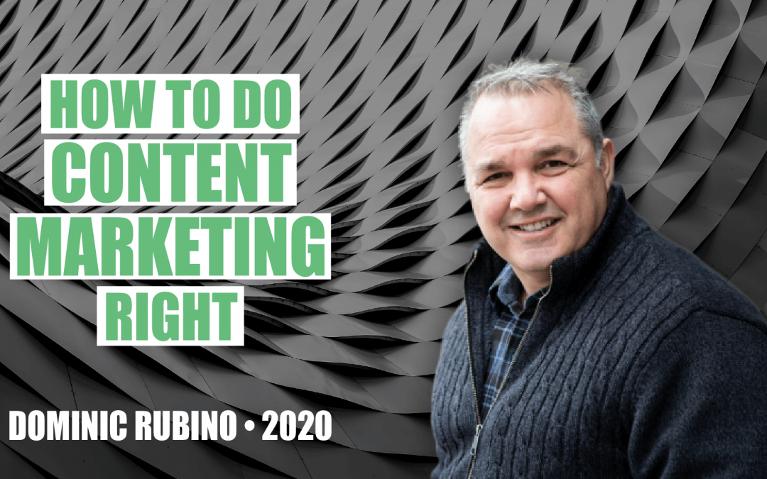 How to Do Content Marketing Right with Dominic Rubino