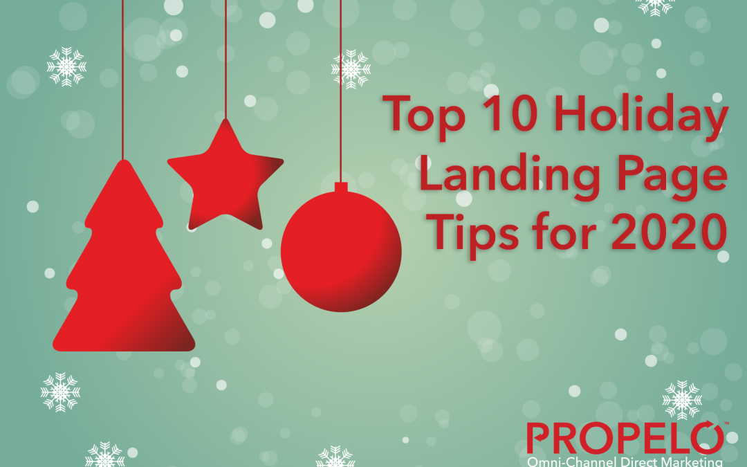 Holiday Landing Page Top 10 Tips for 2020