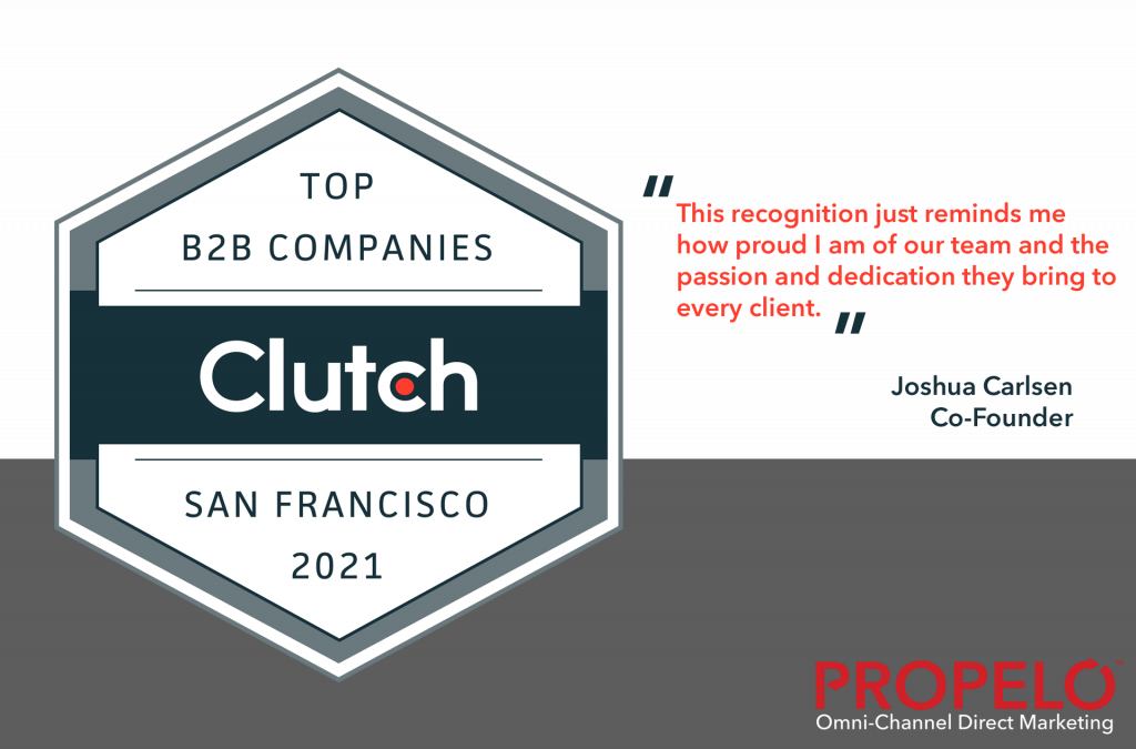 Propelo Media Named Top B2B Company in San Francisco by Clutch in the 2021 Leader Awards